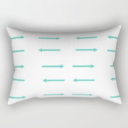 Arrows in Teal Rectangular Pillow
