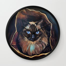The Ragdoll Cat Is in the Bag Wall Clock