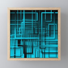 Black and blue abstract Framed Mini Art Print
