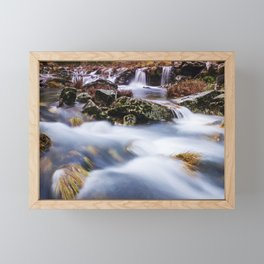 Deep in the woods there was a magic river Framed Mini Art Print