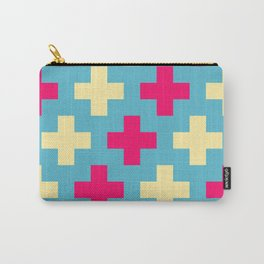 Pink Crosses Carry-All Pouch