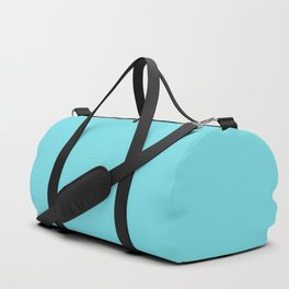 From The Crayon Box – Turquoise Blue - Bright Blue Solid Color Duffle Bag