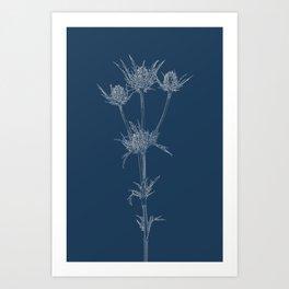 Milk Thistle Blueprint Art Print