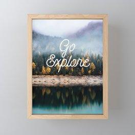 Go Explore Framed Mini Art Print