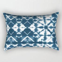 Tie dye, Shibori, indigo, chevron print Rectangular Pillow