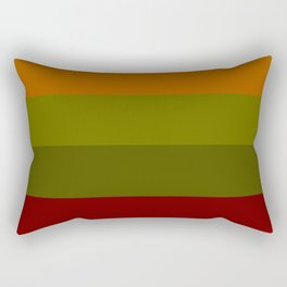 Cool Autumn Leaves - Color Therapy Rectangular Pillow