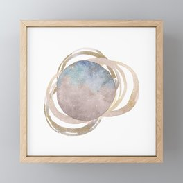 Abstract Circles Fake Glitter WatercolorSpace Design Framed Mini Art Print