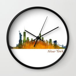 New York City Skyline Hq V01 Wall Clock