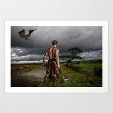 Fantasy Warrior Art Print