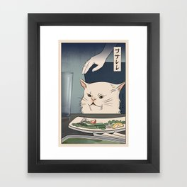 Woman Yelling at Cat Meme - Ukiyoe style (2 in series of 2) Art Print Framed Art Print