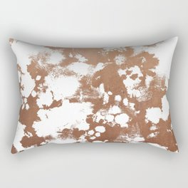 Rose Gold shiny metal sparkle modern pattern abstract rosegold trendy pattern cell phone accessories Rectangular Pillow