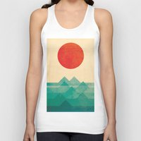 design Tank Tops featuring The ocean, the sea, the wave by Picomodi