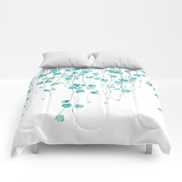 string of hearts watercolor Comforters