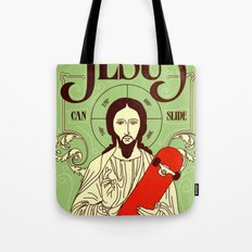 Jesus can slide Tote Bag