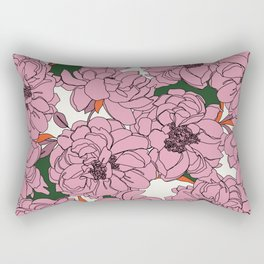 Peony flowers pattern - Floral 005 Rectangular Pillow