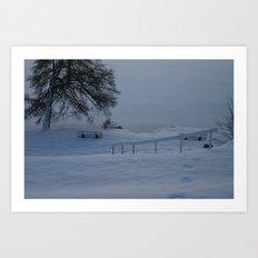 Frozen German Lake Art Print