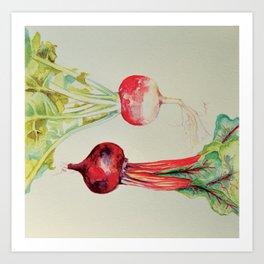 the turnip and the beet Art Print