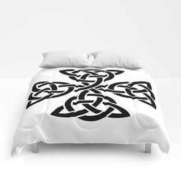 Celtic triquetra cross Comforters
