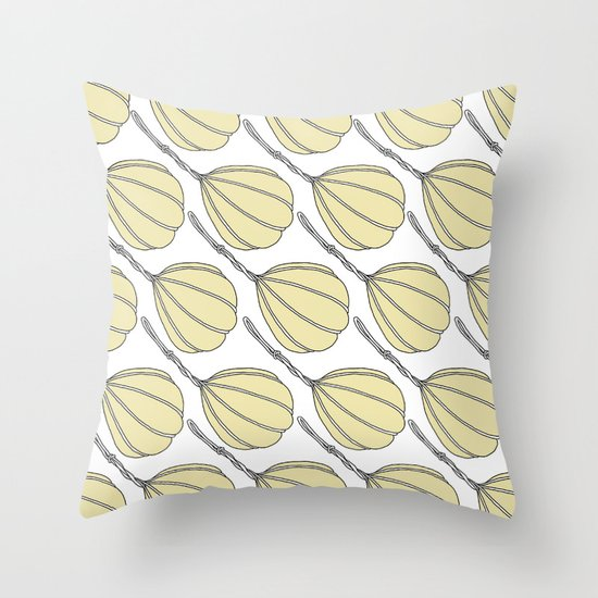 Provolone (cheese pattern) Throw Pillow