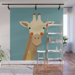 Giraffe, Animal Portrait Wall Mural