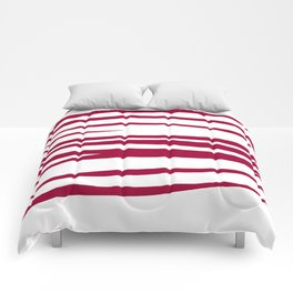 wild lines, ethnic  Red on white elements Comforters