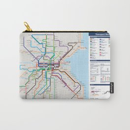 Dublin Frequent Transport Map - Complete Carry-All Pouch