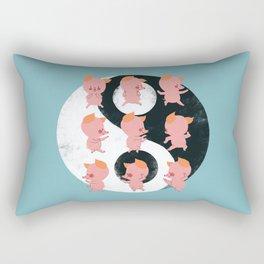 Pig Tai Chi Move Rectangular Pillow