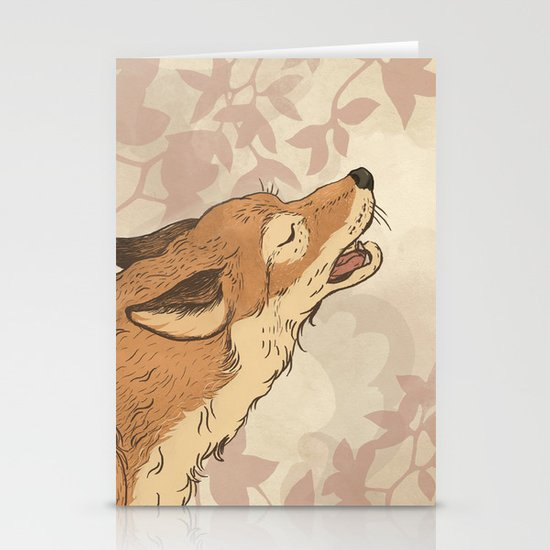 Fox and rabbit Stationery Cards