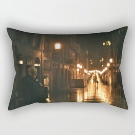 Old men with a dog - Bordeaux Rectangular Pillow
