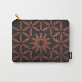 The Flower of Life - Ancient copper Carry-All Pouch