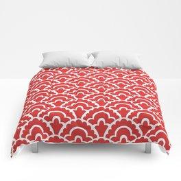 Fan Pattern Red 118 Comforters