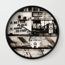 Welcome To NY Wall Clock