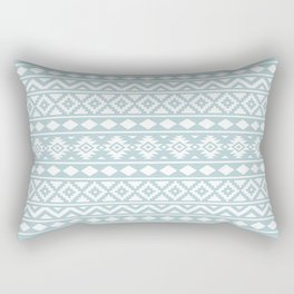 Aztec Essence Ptn III White on Duck Egg Blue Rectangular Pillow