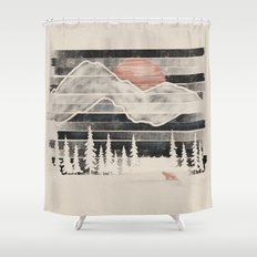 Mountain Lion at Midnight... Shower Curtain