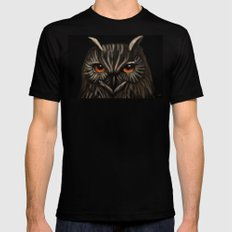 The Owl MEDIUM Black Mens Fitted Tee