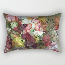 Groovy Floral Abstract Rectangular Pillow