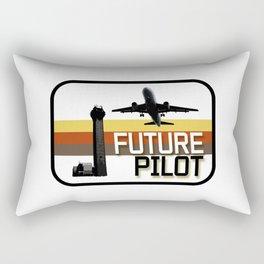 Future Airplane Pilot Rectangular Pillow