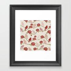 Nightingale and Rose Framed Art Print