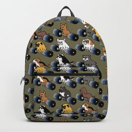 5 plates deadlift Puppies Backpack