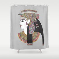 egyptian Shower Curtains featuring EGYPTIAN GODDESS by Bianca Green