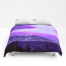 Chugach Mountains in Purple Comforters
