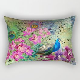Feather Peacock 18 Rectangular Pillow