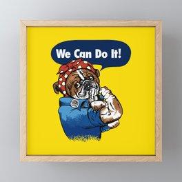 We Can Do It English Bulldog Framed Mini Art Print