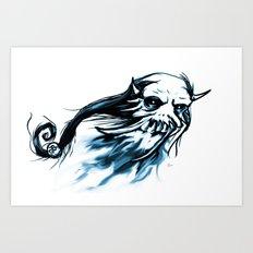Oni Skull Art Print