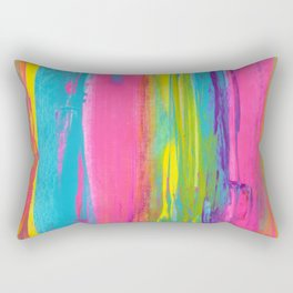 Rainbow Abstract - Summer Nights in Miami V2 Rectangular Pillow