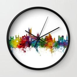 Canterbury England Skyline Wall Clock