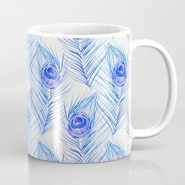 Peacock Feather – Blue Palette Coffee Mug