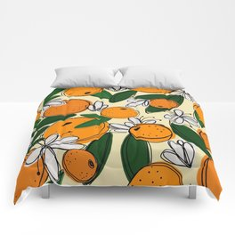 Oranges in Bloom Comforters