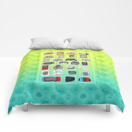 Pixel Art Consoles in Lime Comforters