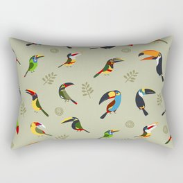 Toucans by Lili Chin Rectangular Pillow